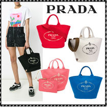 PRADA CANAPA Canvas 2WAY Totes
