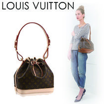 Louis Vuitton NOE Monogram Casual Style Canvas Purses Shoulder Bags