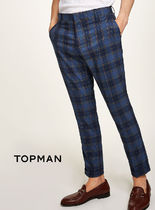 TOPMAN Printed Pants Other Check Patterns Patterned Pants
