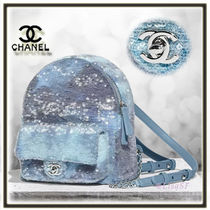 CHANEL Chain Elegant Style Backpacks