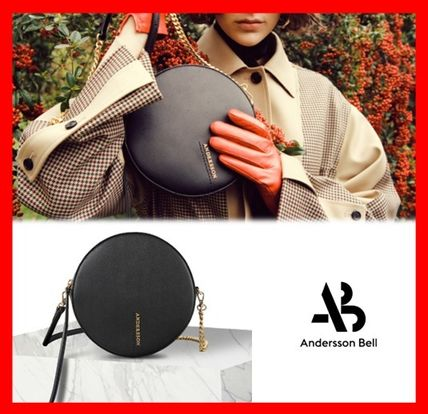 Street Style Leather Elegant Style Shoulder Bags