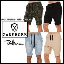 Ron Herman Camouflage Plain Cotton Cargo Shorts