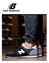 New Balance 420 Rubber Sole Casual Style Suede Plain Low-Top Sneakers