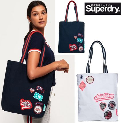 Casual Style Canvas Street Style A4 Totes