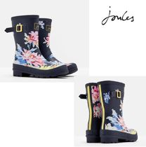 Joules Clothing Flower Patterns Casual Style Rain Boots Boots