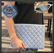 CHANEL MATELASSE Casual Style Unisex Cambus Blended Fabrics Bag in Bag 2WAY