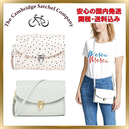 Dots Casual Style Leather Shoulder Bags
