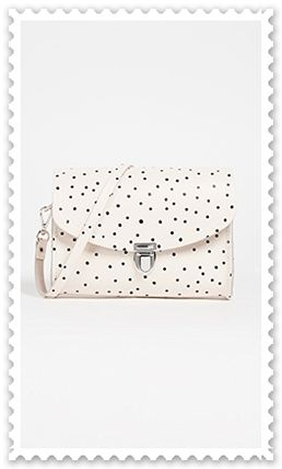 Dots Casual Style Leather Crossbody Shoulder Bags