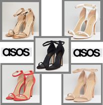 ASOS Open Toe Casual Style Plain Heeled Sandals