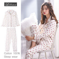 Heart Plain Cotton Lounge & Sleepwear