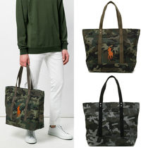 POLO RALPH LAUREN Camouflage Canvas A4 Totes
