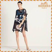 HERMES Cotton Short Sleeves Tunics