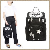 PRADA Casual Style Nylon Studded Backpacks