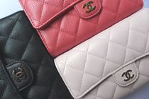 CHANEL TIMELESS CLASSICS Leather Folding Wallets