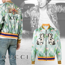GUCCI Short Flower Patterns Street Style Other Animal Patterns