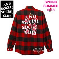 ANTI SOCIAL SOCIAL CLUB Other Check Patterns Street Style Long Sleeves Cotton