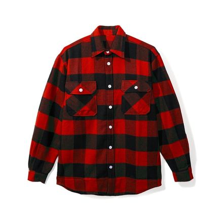 ANTI SOCIAL SOCIAL CLUB Shirts Other Check Patterns Street Style Long Sleeves Cotton 2