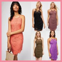 Free People Tight Sleeveless Medium Party Style Lace Dresses