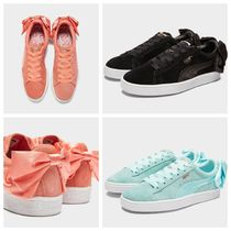 PUMA SUEDE Round Toe Casual Style Suede Street Style Low-Top Sneakers