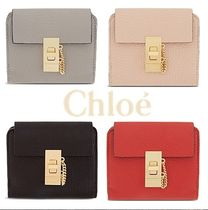 Chloe Drew Lambskin Plain Folding Wallets