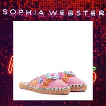 SOPHIA WEBSTER Round Toe Rubber Sole Casual Style Slippers Sandals Sandals