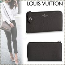 Louis Vuitton TAURILLON Blended Fabrics Plain Leather Long Wallets