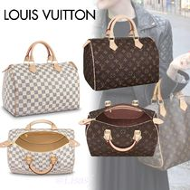 Louis Vuitton SPEEDY Other Check Patterns Monogram Canvas Blended Fabrics A4