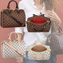 Louis Vuitton SPEEDY Other Check Patterns Canvas Blended Fabrics 3WAY