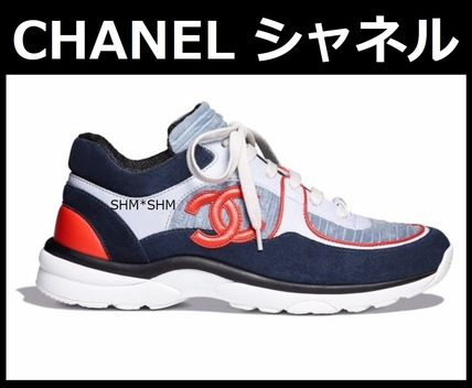 Chanel Sports 2018 19aw Rubber Sole Lace Up Casual Style Bi Color