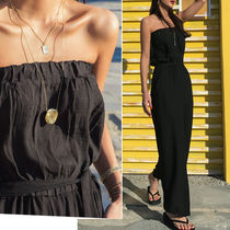 Casual Style Street Style Plain Long Dresses