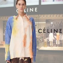 CELINE Long Sleeves Medium Oversized Elegant Style Shirts & Blouses