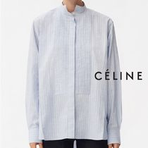 CELINE Long Sleeves Cotton Medium Oversized Elegant Style