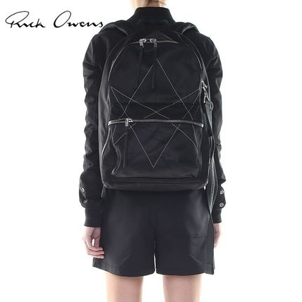 Casual Style Plain Backpacks
