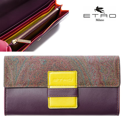 Paisley Plain Long Wallets