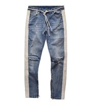 URKOOL Stripes Denim Street Style Plain Skinny Fit Jeans & Denim