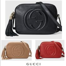 GUCCI Soho Tassel Leather Shoulder Bags