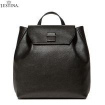 J.ESTINA Casual Style Street Style Plain Leather Backpacks