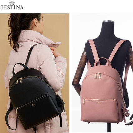 Casual Style Street Style A4 Plain Backpacks