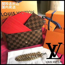 Louis Vuitton DAMIER Casual Style Blended Fabrics 3WAY Chain Shoulder Bags