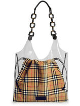 Burberry Other Check Patterns Crystal Clear Bags Shoulder Bags