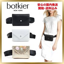 Botkier Flower Patterns Casual Style Unisex Chain Plain Leather
