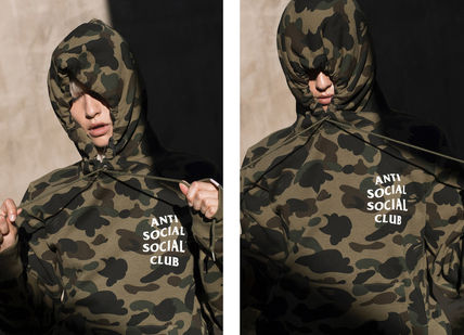 Camouflage Unisex Street Style Collaboration Long Sleeves