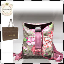 GUCCI Flower Patterns 2WAY Elegant Style Backpacks