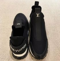 Louis Vuitton Plain Toe Rubber Sole Blended Fabrics Bi-color Plain