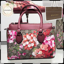 GUCCI Flower Patterns 2WAY Elegant Style Handbags