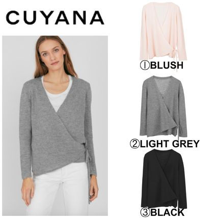 Casual Style Cashmere Blended Fabrics Long Sleeves Plain