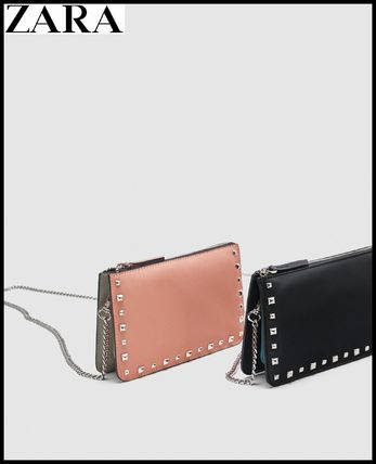 Studded Chain Plain Long Wallets