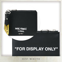 Off-White Stripes Casual Style Unisex Bag in Bag 2WAY Plain Leather