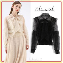 Chicwish Star Chiffon Long Sleeves Medium Elegant Style