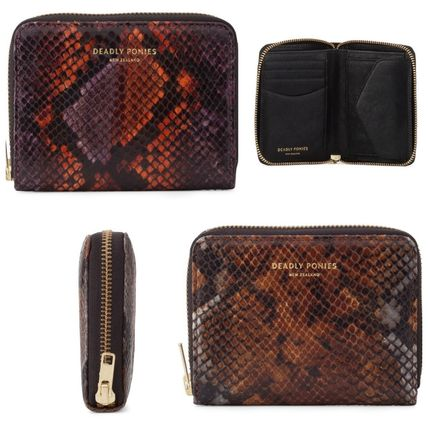 Unisex Leather Handmade Python Folding Wallets
